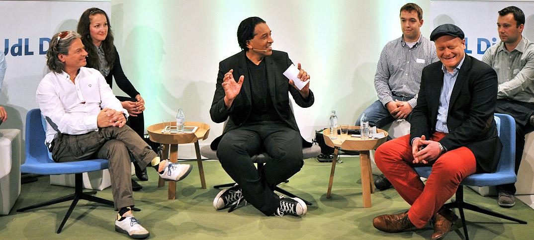 Bernd Schlömer Renè Rennefeld & Cherno Jobatey in UdLDigital Talkshow