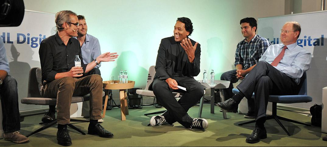 Peer Steinbrück, Frank Schmiechen & Cherno Jobatey in UdLDigital Talkshow