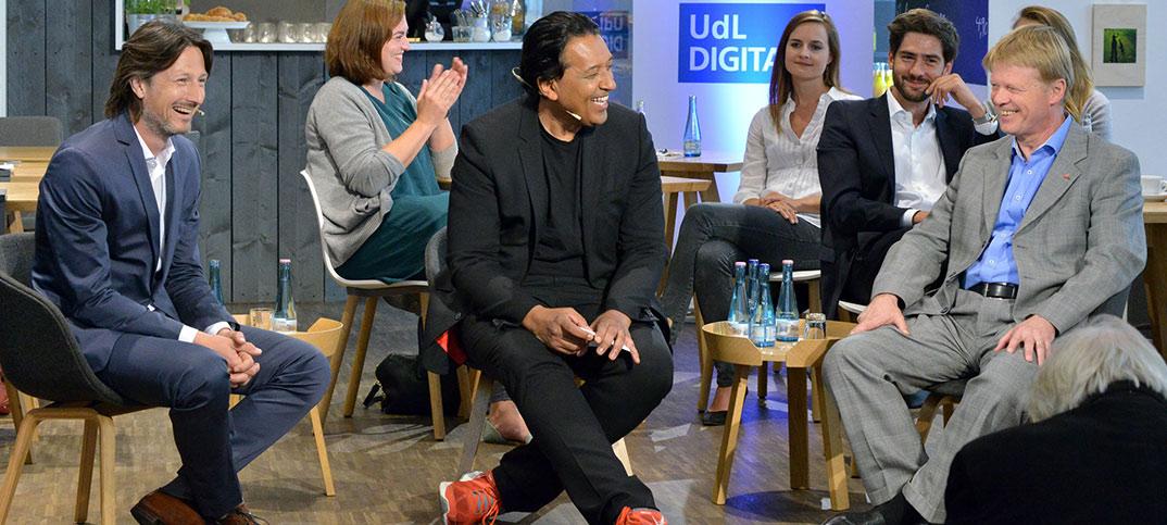 Reiner Hoffmann, Holger Weiss & Cherno Jobatey UdLDigital Talkshow