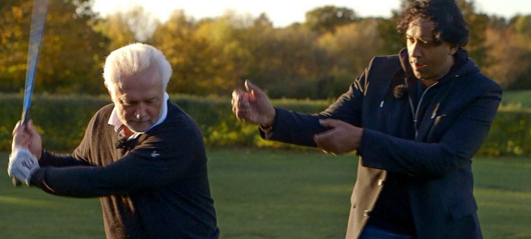 Wolfgang Kubicki & Cherno Jobatey spielen Golf