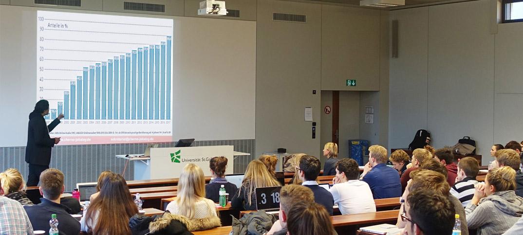 University St. Gallen Cherno Jobatey lecturing