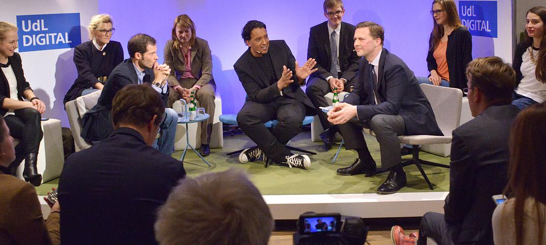 Steffen Seibert Julian Reichelt & Cherno Jobatey in UdLDigital Talkshow