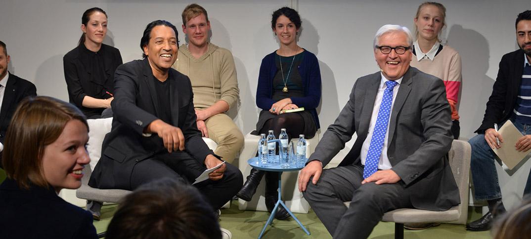 Frank-Walter Steinmeier & Cherno Jobatey Facebook Berlin Talk