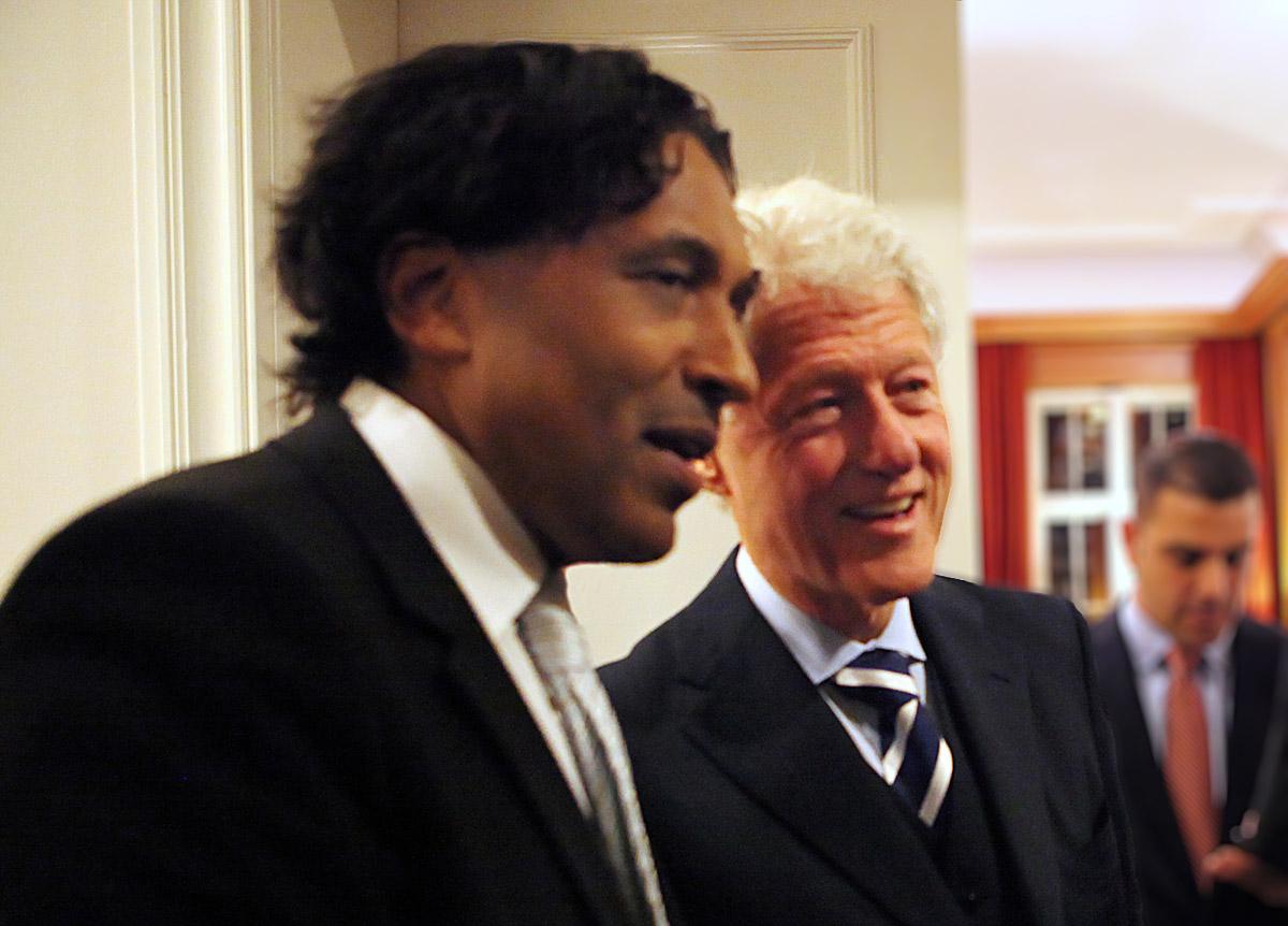 Bill Clinton & Cherno Jobatey