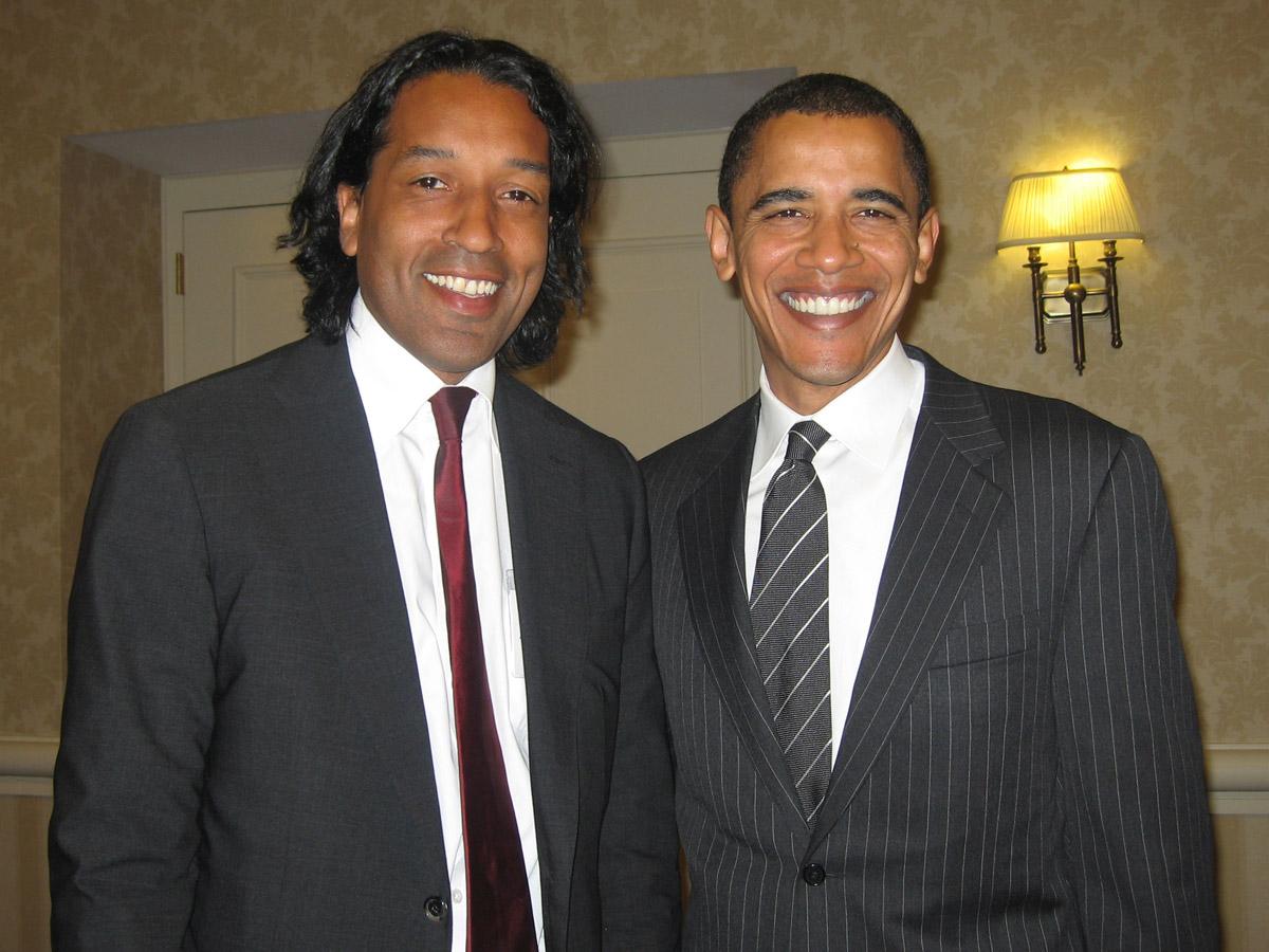 US-President Barack Obama & Cherno Jobatey