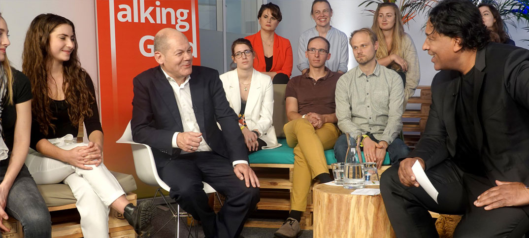 Olaf Scholz & Cherno Jobatey 'Talking Good' auf focus.de