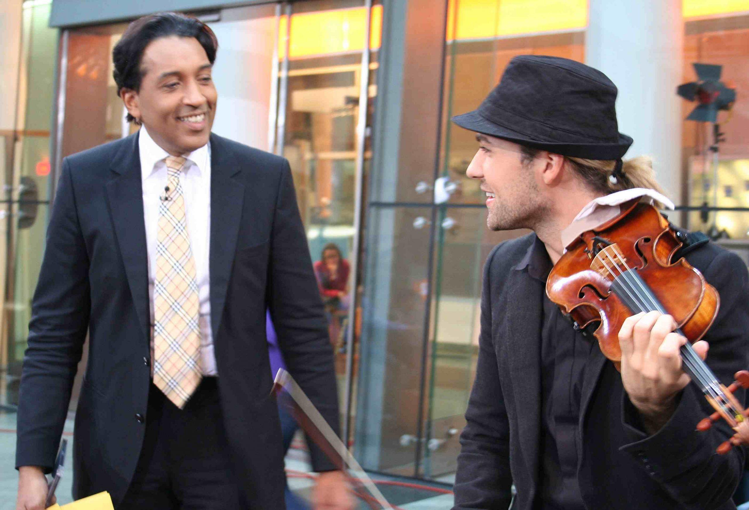 Geiger David Garrett als Gast bei Cherno Jobatey im ZDF-Morgenmagazin