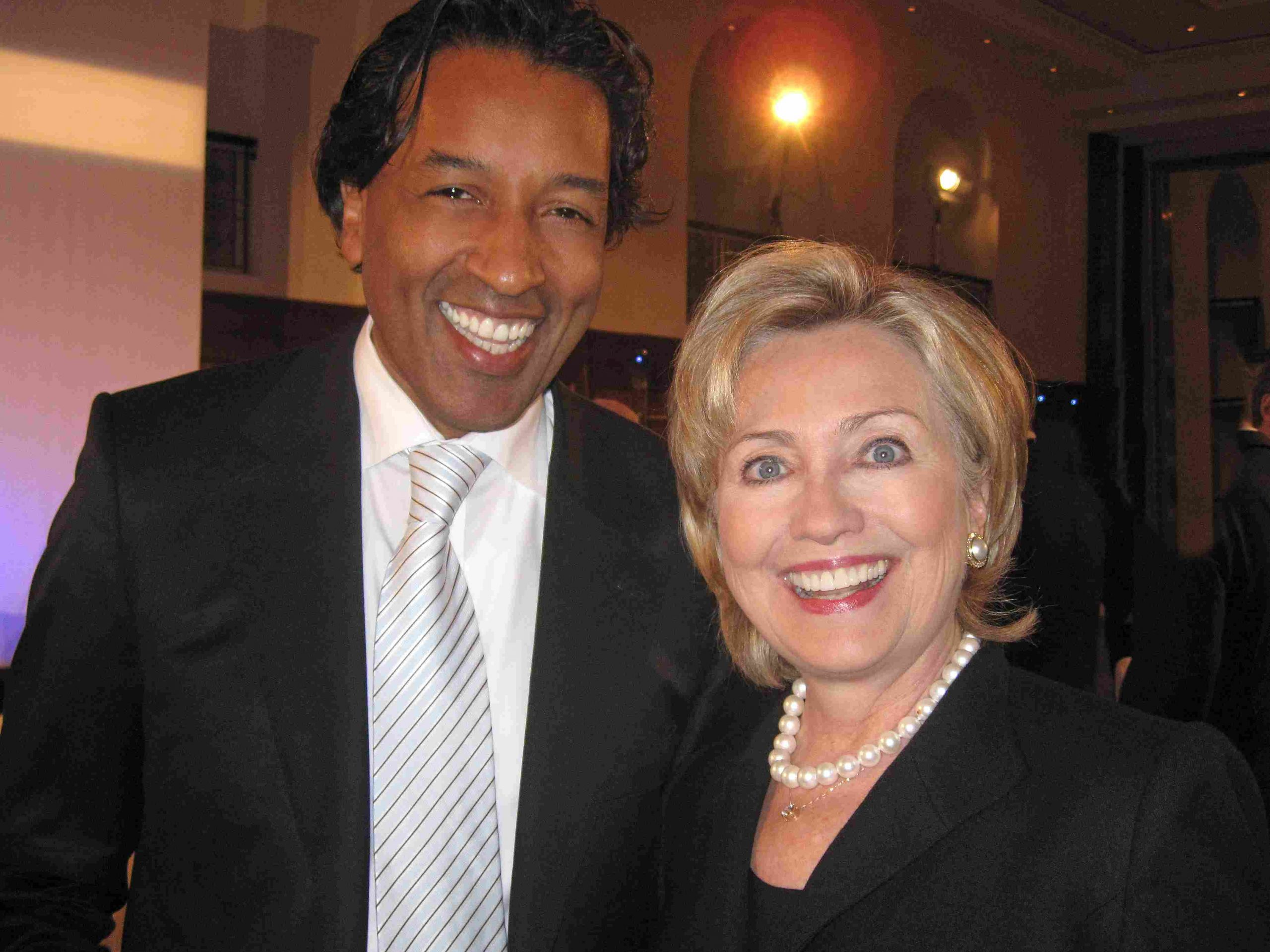Hillary Clinton & Cherno Jobatey