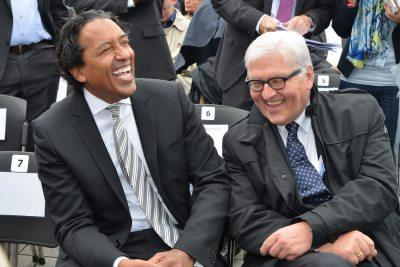 Frank-Walter Steinmeier & Cherno Jobatey