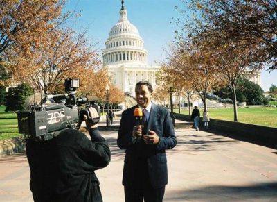 Cherno Jobatey vor dem Capitol in Washington