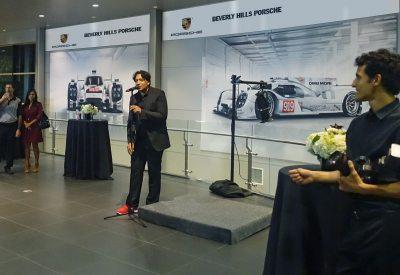 Cherno Jobatey hosting Beverly Hills Porsche Event
