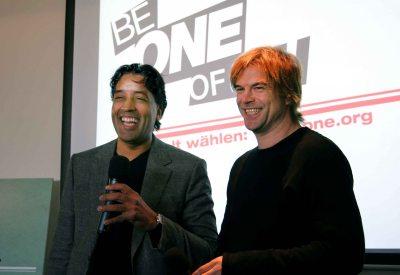 Campino & Cherno Jobatey gemeinsam für ONE.org