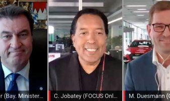 Markus Söder, Cherno Jobatey & Audi-CEO Markus Duesmann 'Mobilität neu denken' Focus Online Talkshow